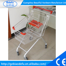 Zinc plated shopping trolley ,all kind of capacity supermarket trolley