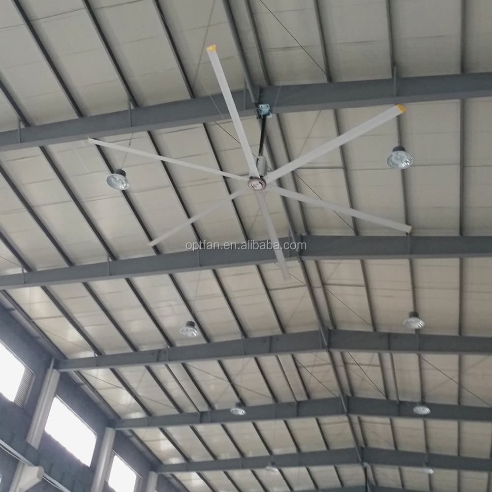 China best price 24ft(7.3m) large industrial use metal blade ceiling fan
