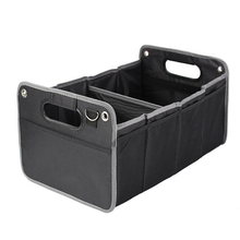 Oxford Fabric Vehicle Mounted 3 Compartment Foldable Car Storage Box Container