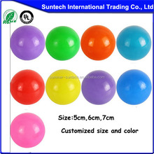 Branded design 3 inches plastic ball