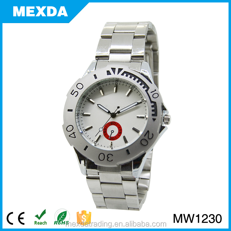 latest stainless steel strap liminous function retro man watch