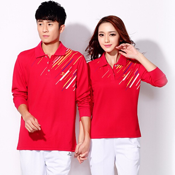 Custom 100% new design sports polo t-shirt short sleeve for lovers