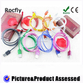 Shenzhen Wholesaler Colorful OD 2.6mm 1M Inner Braided Charging Cable