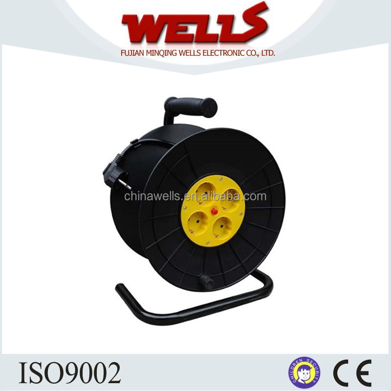 Plastic Material Wheel European Type Socket Cable Reel