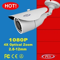 1080P zoom power over ethernet IP camera two way audio bullet IP POE camera with audio input and output