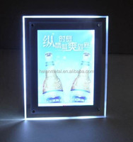 Wall mounting acrylic picture frame led light box