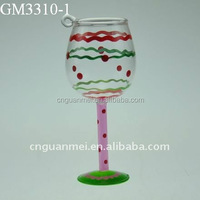 Hand Blown Cup Glass Christmas Decoration
