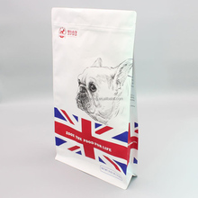 customized printing kraft paper dog food package bag flat bottom bag for pet feed animal livestock feed plastic bag