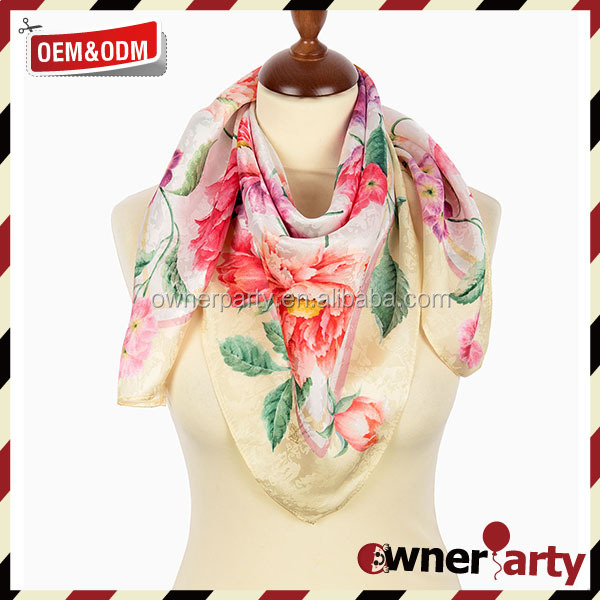 Satin Shawl For Wedding Party Prom Print Satin Shawl Scarf
