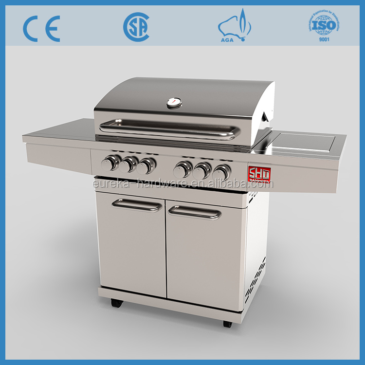 High Quality CE Approved Commercial Outdoor Stainless Steel Gas BBQ Grill