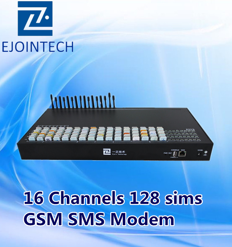 Ejoin voip 16 channels gsm bulk sip send and receive sms online gateway