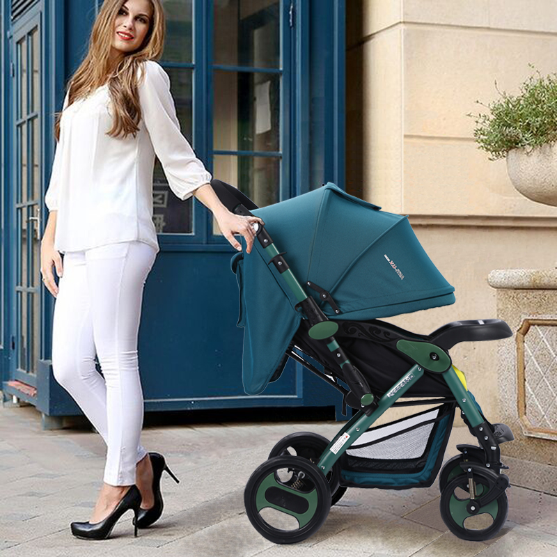 European standard factory price high quality foldable high landscape baby stroller baby prams with big wheels