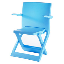 Children ergonomic design outdoor use plastic kids blue folding chairs