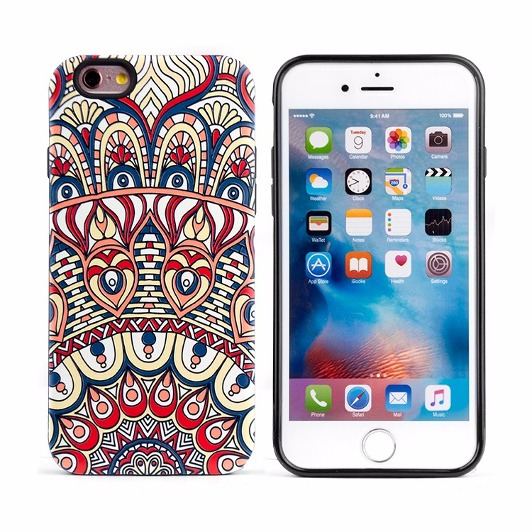 Latest Fashion Relief Painted & Color Painting 3D Hybrid Phone Case For iPhone 6 6s