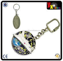 puffy keychain/belly dance china bellyqueenduct en/custom metal keychain with ur logo