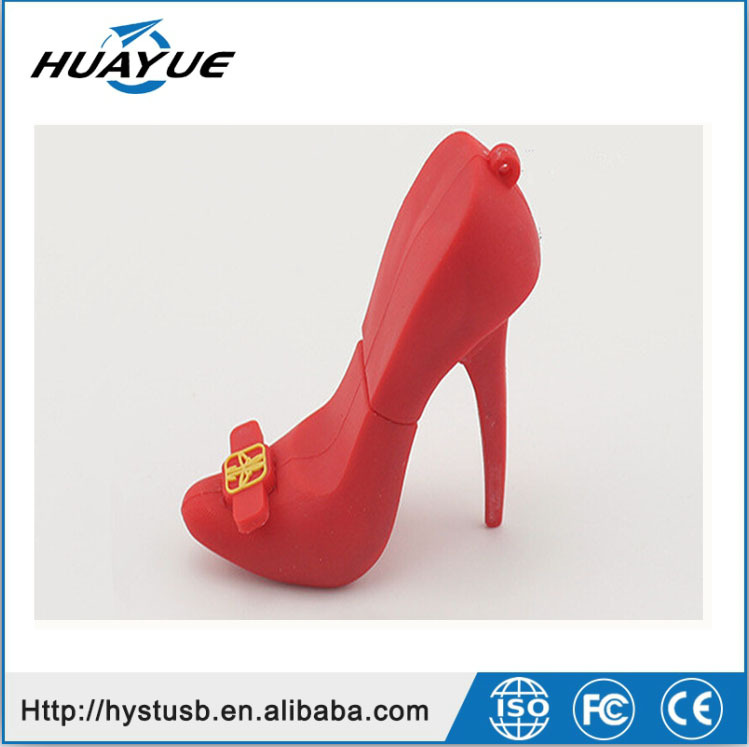 Promotional creative product high heel shoe pen drive/ U-disk