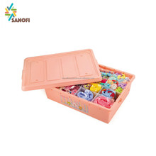 Plastic storage box drawer divider insert organizer with flexible dividers