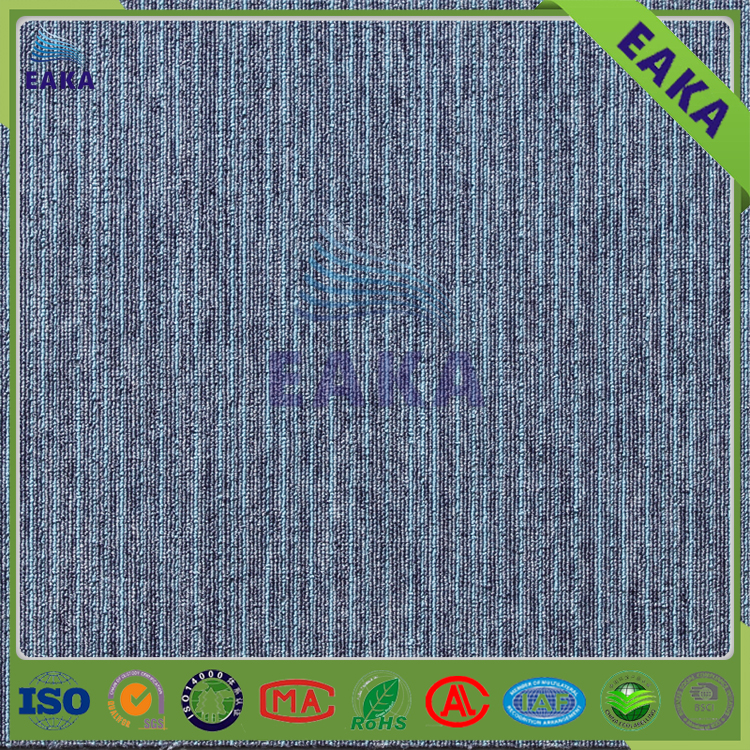 EAKA modern design 100% polypropylene eco-friendly fireproof blue office carpet for chinese supplier