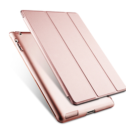 Pu leather trifold JOY COLOR protective tablet cover /case for Ipad 2/ipad3/ipad4