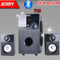 Jerrypower JR-Y02 2.1 multimedia woofer computer bluetooth speaker with good quanlity , 2.1 subwoofer speaker box