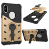 For iPhone X Tough Armor TPU + PC Combination Case With Stand