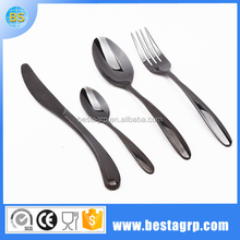 Bulk black stainless steel inox tableware