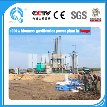 Environmental friendly 1mw biomass gasification power plant