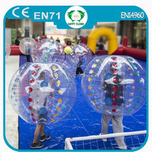 HI CE Hot sale giant plastic bubble ball, human inflatable soccer bubble ,adult bumper ball