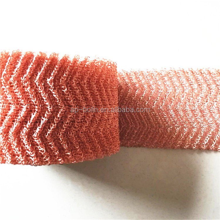 Distillation column Copper Packing 99.9% Reflux Copper Mesh copper knitted metal wire mesh