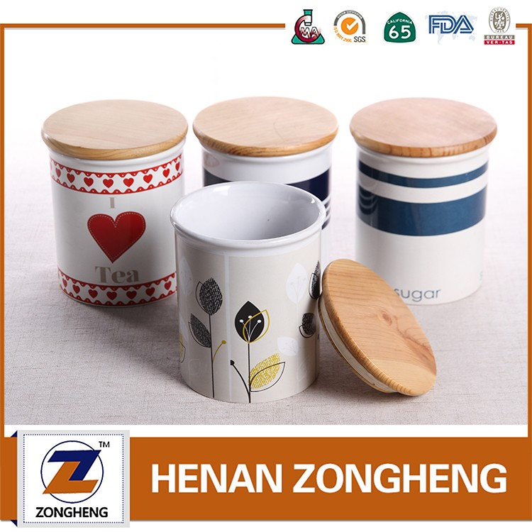 Kitchen appliance ceramic canister tea coffee sugar set