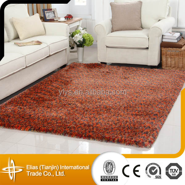 microfiber 100 polyester shaggy overdyed rug for living room