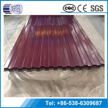 Cheap Model Galvanized corrugated metal roofing red color steel sheet