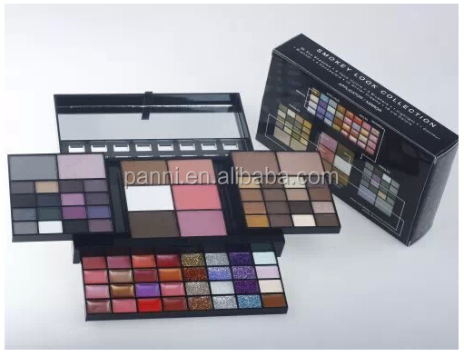 New 74 Color Powder/Concealer/Eye shadow/Blusher/Glitter Creams/Lip gloss makeup kit