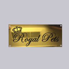 Wholesale Cheap Glossy Gold Plated Custom Logo Stainless Steel Embossed Nameplate