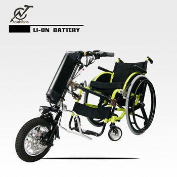 Electric attachable handcycle for wheelchair converts