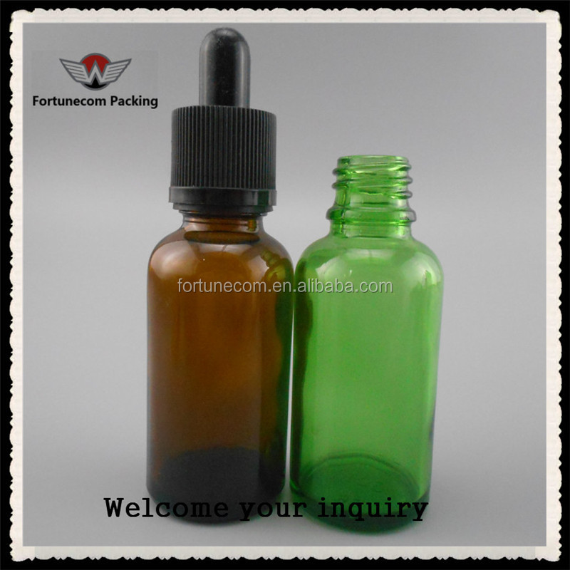 Clear and Sterile Amber Dropper Glass Bottle for essential oil glass bottle and liquid medicine glass bottle drinking