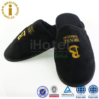 Black Warm Hotel Cotton Bedroom Promotion EVA Indoor Slipper Men