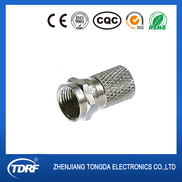 F type male/plug rf coaxial connector made in china
