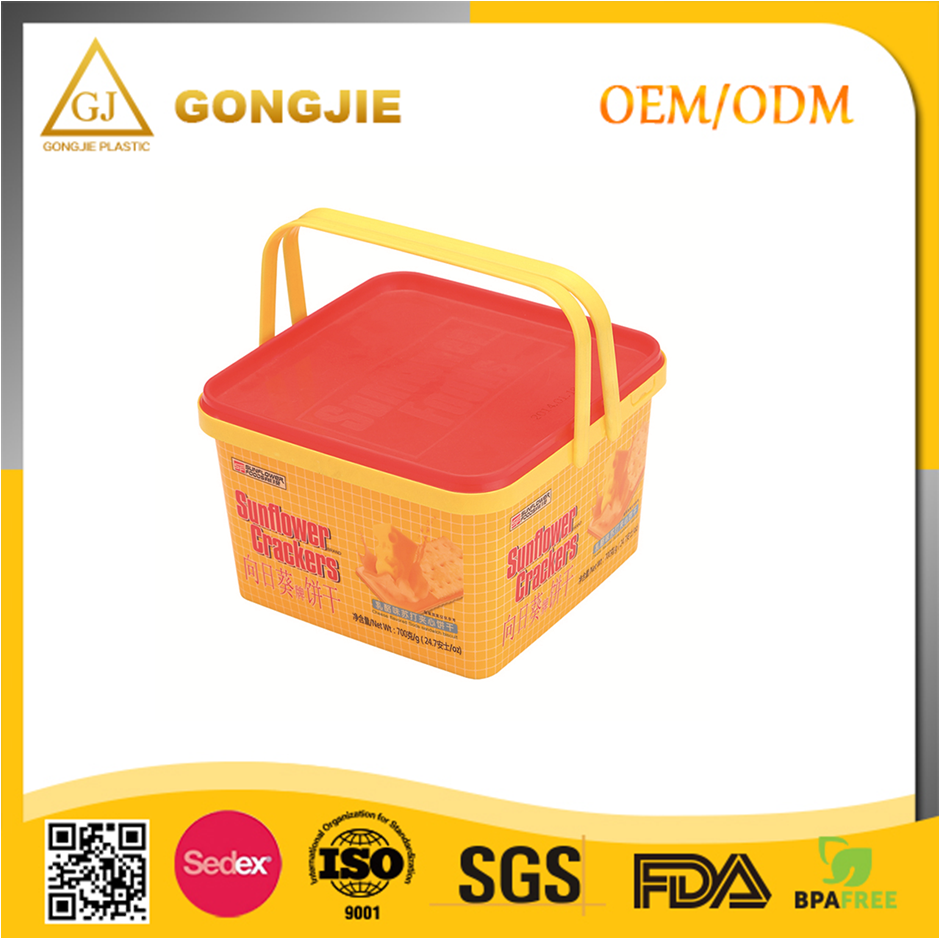 Plastic Container food Packaging Box, Crakers Box, biscuit box