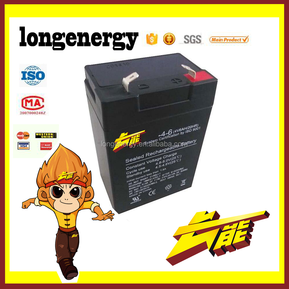 4v 6ah valve regulated sealed battery rechargeable lead acid ups storage battery