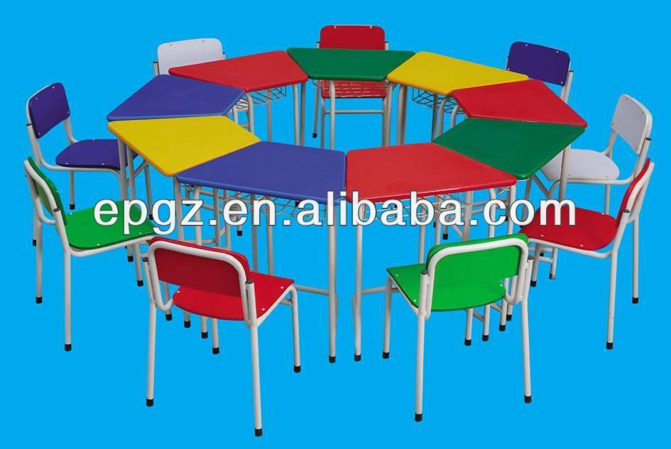 Bambini in metallo tavolo e sedie per bambini colorati - Tavolo e sedia per bambini ...
