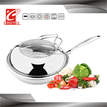 3 ply stainless steel induction cooker fry pan