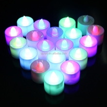 Factory Price Promotion Gifts Most Fashion Wholesale Chistmas Decoration Favor LED Plastic Tealight Candle SJTC-002