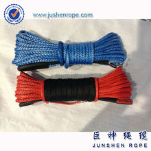 Good quality new design 6mm*15m atv/utv synthetic winch rope