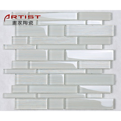 Wholesale Price Beautiful l Wallpaper Hall Building Material 3d Glass Crystal Mosaic Tile For Wall Decoration