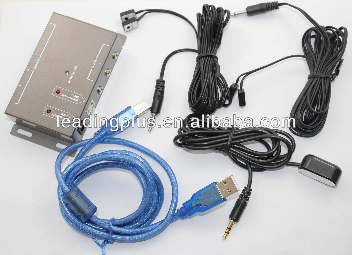 IR Remote Control Extender 4 Emitters 1 Receiver Infrared Repeater Hidden System Kit