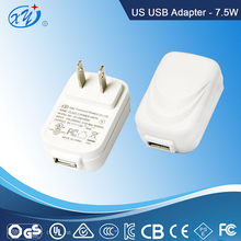 usb 5v 1.5a switching power adapter for led light modem