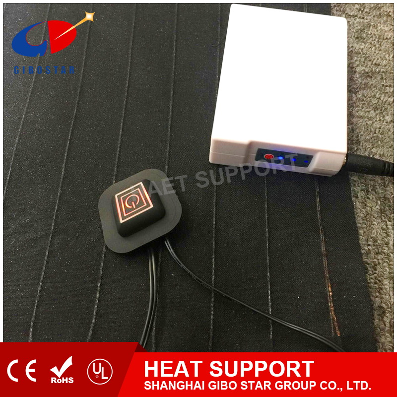 Medcial physical therapy Carbon Fiber heat pad &far infrared heat pad, keep warm 3.7/7.4/11.2V Li battery, support customer size