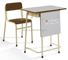 Comfortable cheap student Desk and Chair set for college school furniture