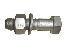 stud bolt and nut dacromet standard A193 B7 and A194 2H M16 in933 din931 carbon steel hexagon bolts dacromet